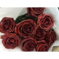 Τριανταφυλλα - triantafilla wax σκούρο κόκκινο
